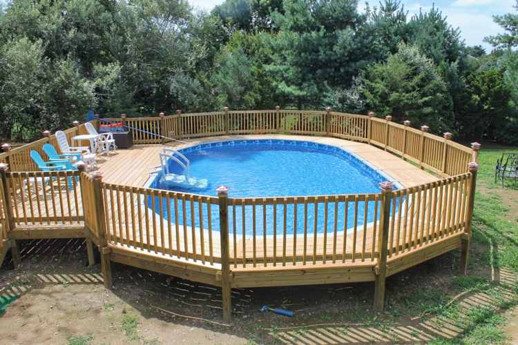 30 Above Ground Pool Deck Ideas Pool Cleaning Hq